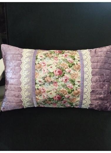 Giz Home Giz Home Vk14 Victoria 30X50 Çiçek Desenli Kırlent Renkli